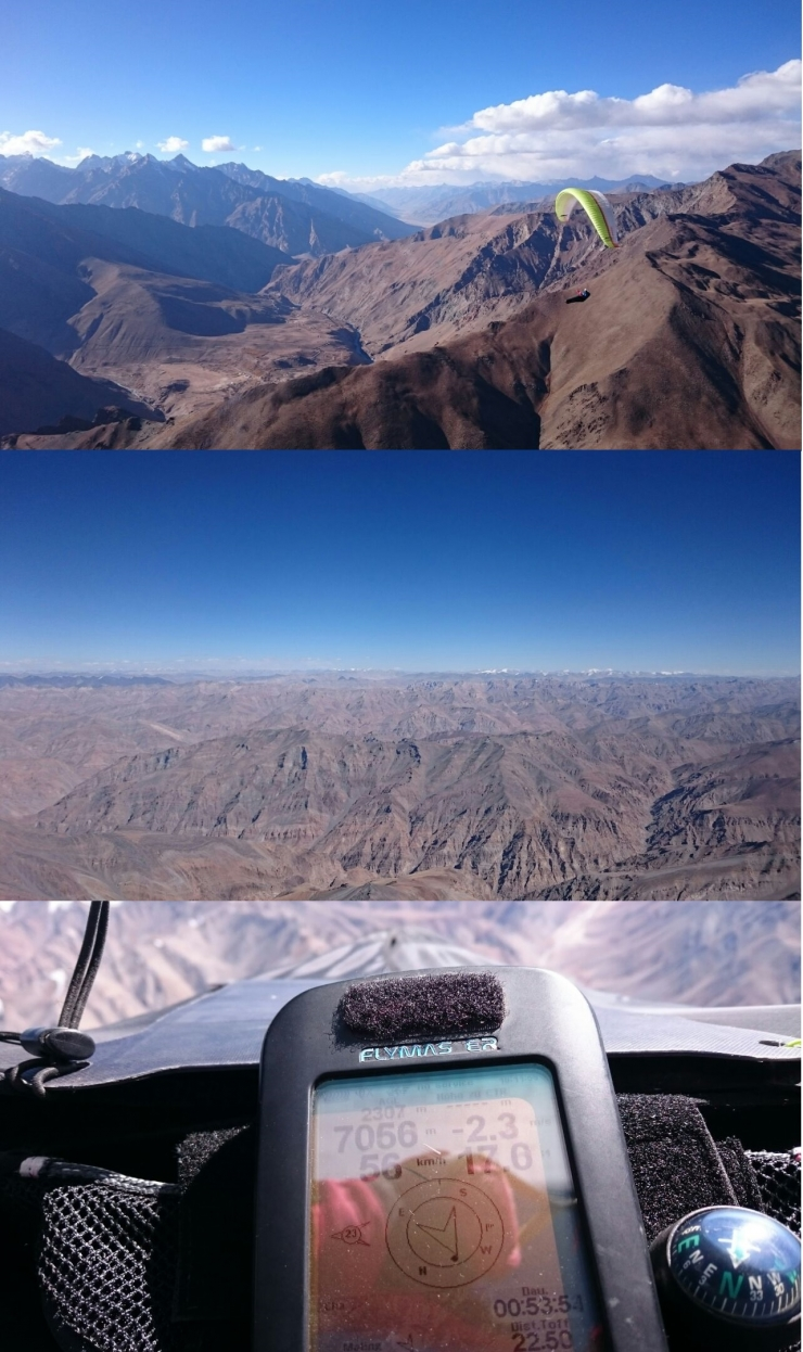 An insanity flight up to 7000m!