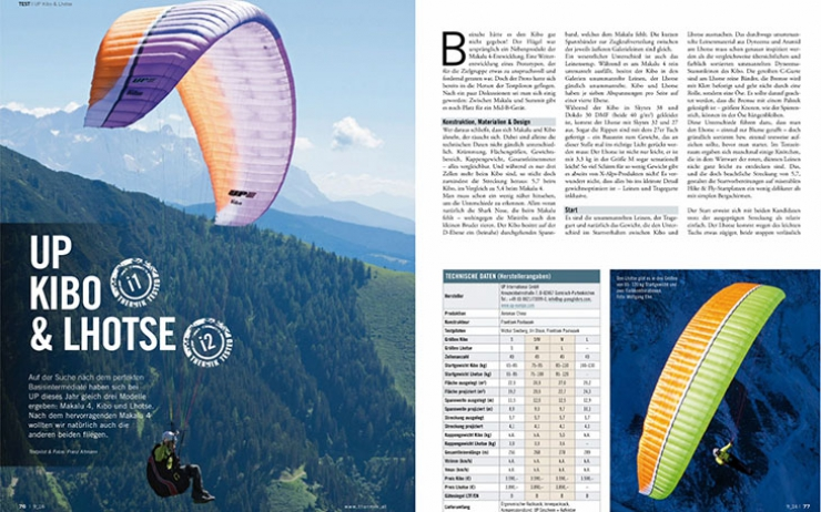 Thermik Magazine reviews the Lhotse and the Kibo