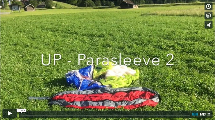 Instructional packing video for the Parasleeve2